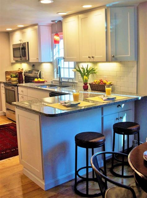 small kitchen  extra seating  peninsula kitchen