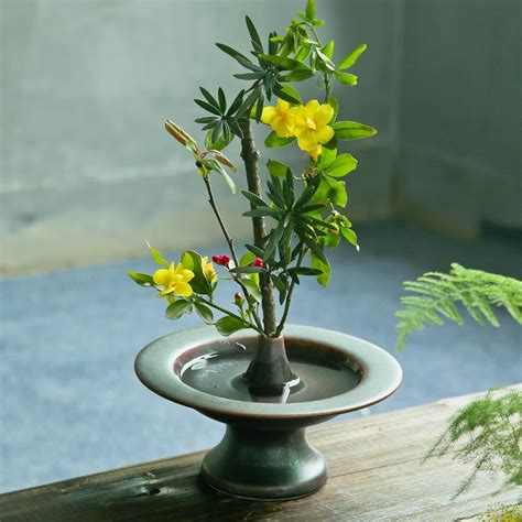 Japanese Flower Vase Ikebana zen japanese flower arrangement ikebana vase tea room