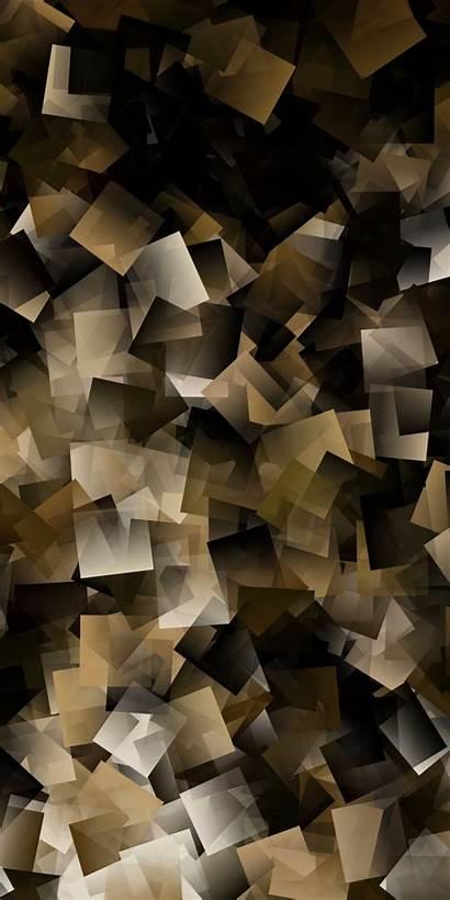 Yellow Squares Abstract Dark Desktop Wallpaperday Cubes