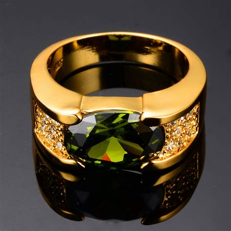 cheap mens peridot ring