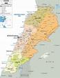 Political Map of Lebanon - Ezilon Maps