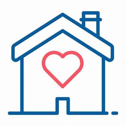 Heart Shape Icon Inside Shelter Vector Homeless