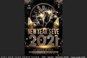 2021 New Years Eve Party Flyer | Creative Photoshop Templates ~ Creative Market