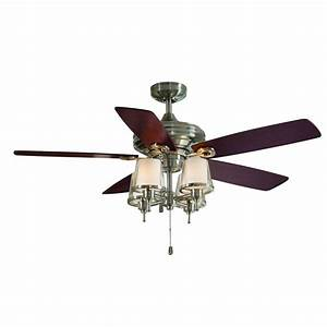 Allen roth in brushed nickel ceiling fan with