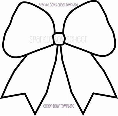 Bow Cheer Coloring Clipart Drawing Hair Bows