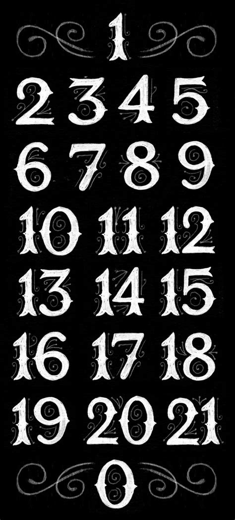160 best Calligraphy......Numbers images on Pinterest | Letters, Letter fonts and Writing