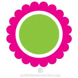 circle flower vector clip 123freevectors