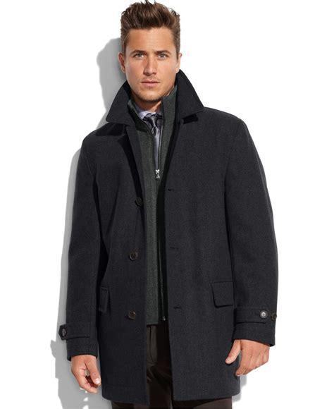 wool blend zip jacket michael kors michael milos wool blend knit bib car coat in