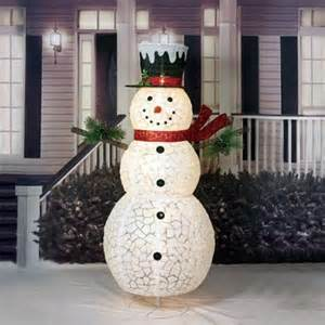 lighted decorations 60 quot pop up iridescent fabric lighted snowman sculpture american