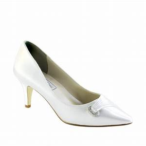 TOUCH UPS CHANDRA WHITE 2quot HEEL Dyeable Shoe Store