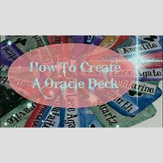 How To Create Your Own Oracle Deck Youtube