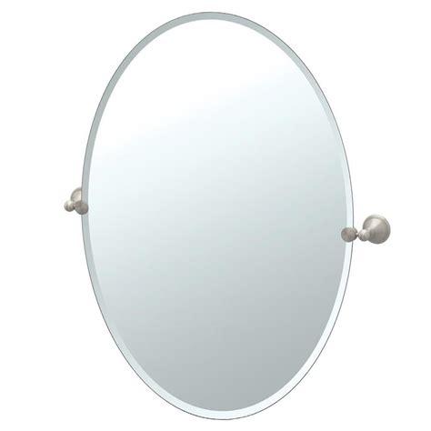 satin nickel mirror shop gatco gatco laurel avenue 24 in satin nickel oval 2104