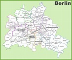 Map of berlin - City map berlin (Germany)