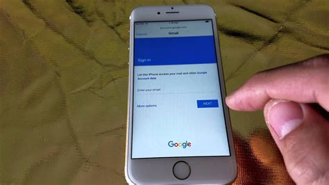 how to add gmail to iphone how to add gmail account on iphone 6 6s youtube How T