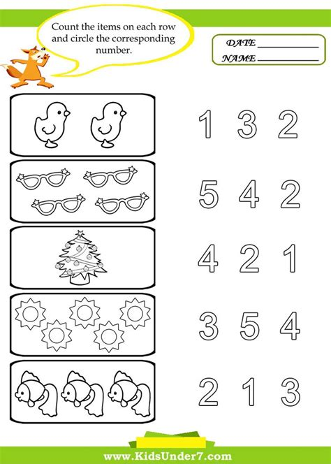 worksheet for toddlers preschool worksheets 7 preschool counting
