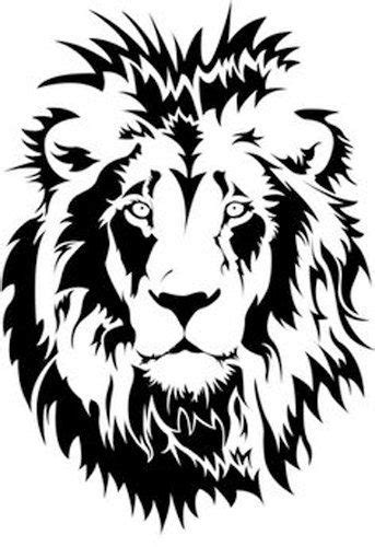 Lion Face reuseable 190 micron Mylar Stencil - A5 - A4