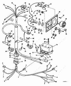 Evinrude 1968 40 - 40872a  Instruments And Cable Group Electric Shift