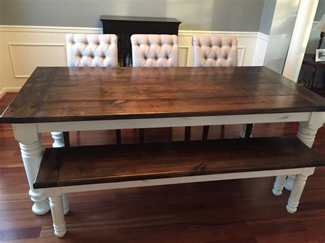 farmhouse table with bench white farmhouse table bench extensions diy