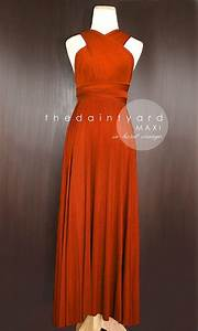 Maxi burnt orange bridesmaid prom wedding infinity dress for Burnt orange wedding dress