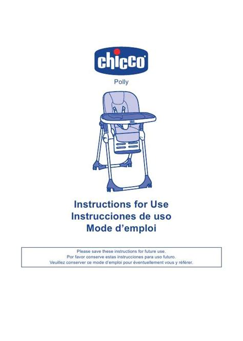 Chaise Bloom Mode D Emploi by Mode D Emploi Chicco Polly Trouver Une Solution 224 Un