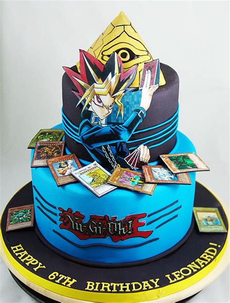 cake birthday yugioh gi oh yu cakes themed anime party watapon happy boys boy card birthdaycake yugi parties 6th character