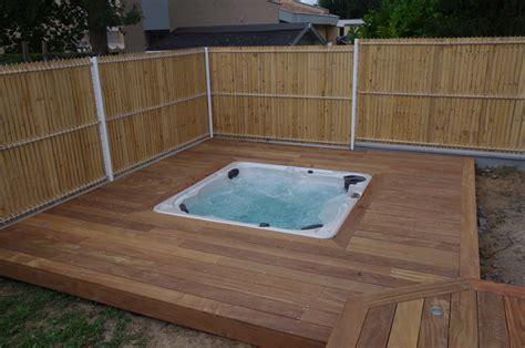 bois ipe pour terrasse terrasses en bois exotique ipe pour contour de spa terrasses en bois am 233 nagement ext 233 rieur bois