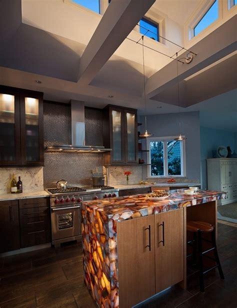 30 unique kitchen countertops of different materials
