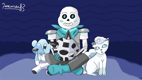 Sans Blueberry As A Ice Type Pokemon Trainer By