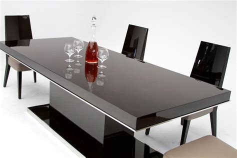 noble modern ebony lacquer dining table modern dining