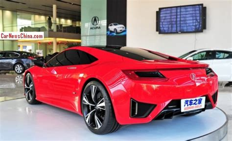 acura nsx concept pops up at acura dealer in shanghai