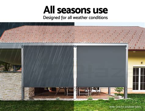 Instahut Retractable Straight Drop Roll Down Awning Patio