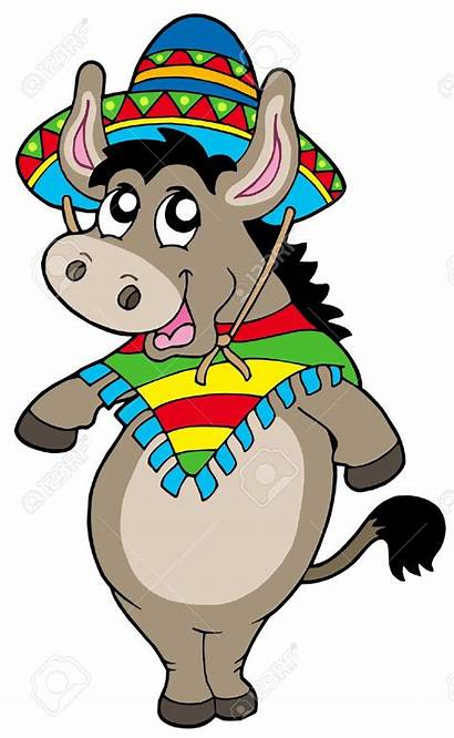 Donkey Mexican Dancing Clipart Pinata Burro Clip