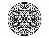 Coloring Crop Circle Mandala Circles Designlooter Coloringcrew sketch template