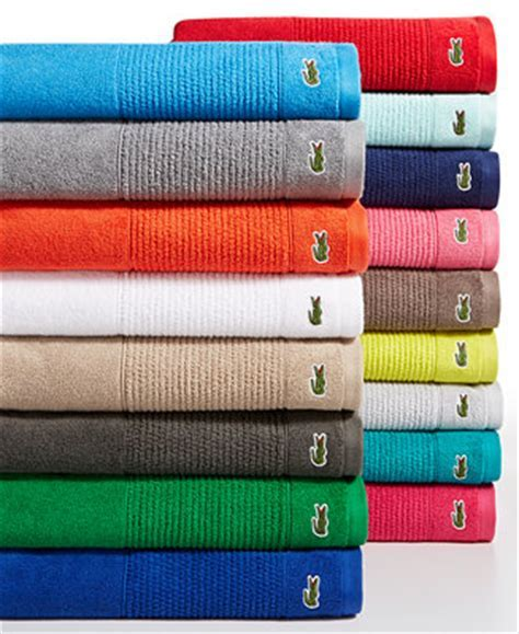 Lacoste Legend Supima Cotton Bath Towel Collection Bath Towels Bed & Bath Macy's