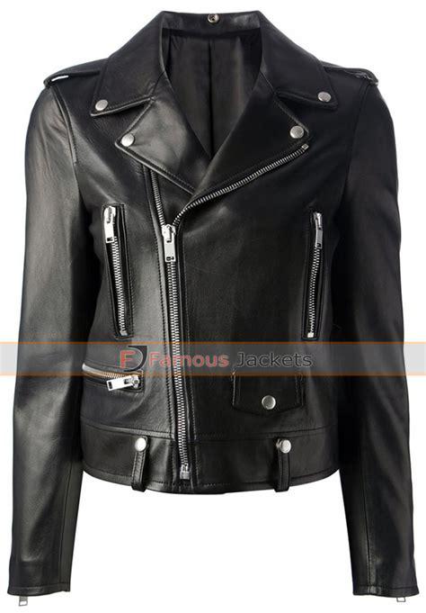 black motorbike jacket mariah carey black motorcycle style leather jacket 127
