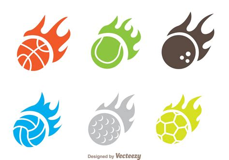 flame ball icon vectors download free vector art stock
