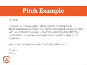 sle pitch for startup email pitching 101