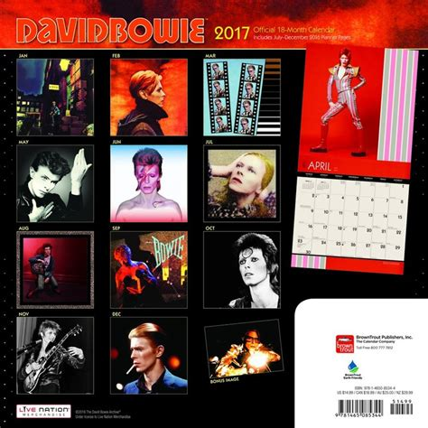 david bowie calendars ukpostersabposterscom