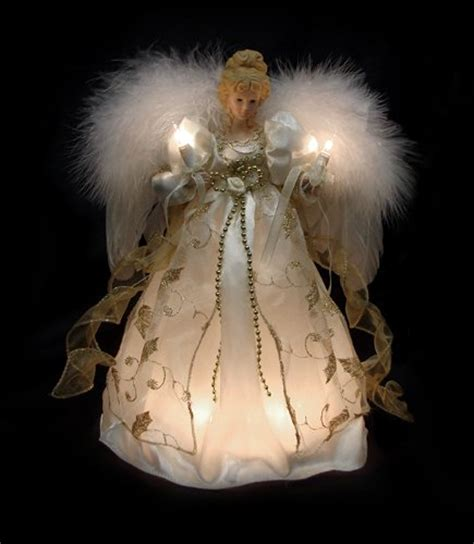 lighted angel christmas tree toppers 12 quot lighted gold tree topper clear lit lights ebay
