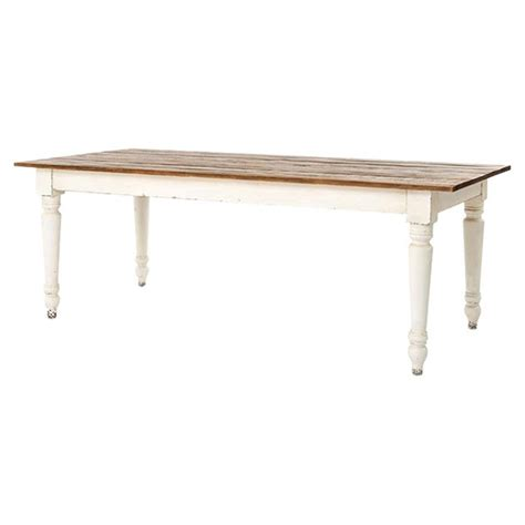 country dining table country reclaimed pine whitewash farmhouse dining