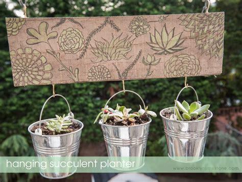 diy hanging succulent planters brooklyn limestone