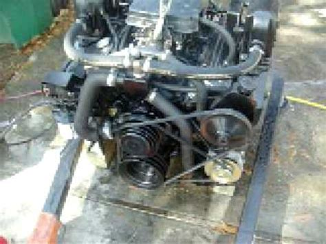 small block chevy  rebuilt marine engine test youtube
