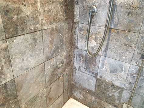 acid damaged marble shower cubicle restored in leatherhead