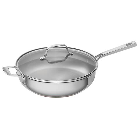 emeril  qt stainless steel  copper core covered deep saute pan bed bath
