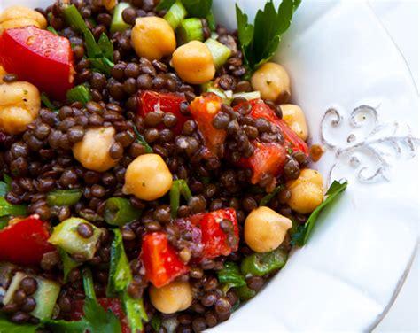 black lentil chickpea salad  mint lemon dressing