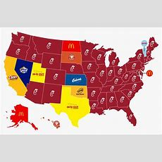 Map Of Fastfood Favorites Claimed Texas Loved Innout
