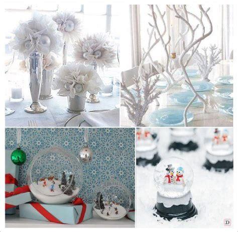 decoration mariage theme hiver mariage hiver decoration table centre de table boule a neige aquarium tulle mariage en hiver