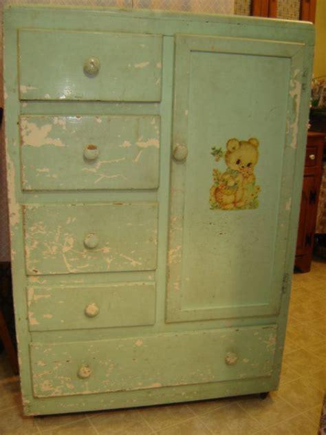 Dresser Wardrobe Furniture by Vintage Baby Child Armoire Closet Bureau By