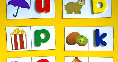 beginning letter sounds  matching cards