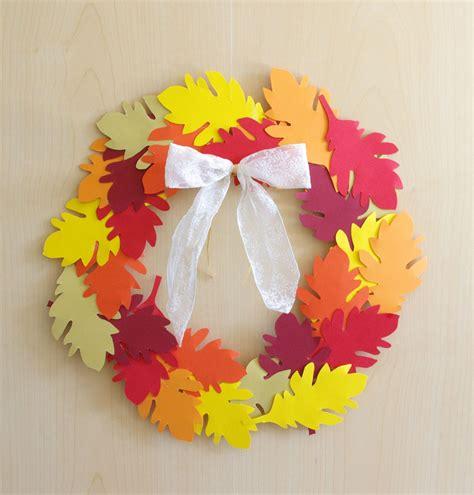 Herbstdeko Fenster Diy by Herbst Deko Dekoration Basteln Papier Bl 228 Tterkranz